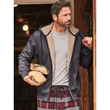 Men's John Blair Sherpa-Lined Fleece Hoodie, Charcoal Heather Grey XL