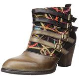 L'Artiste by Spring Step Women's Redding Boot, Taupe Multi, 37 EU/6.5-7 M US