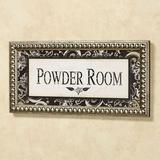 Powder Room Framed Wall Art Ivory/Black , Ivory/Black