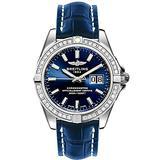 Breitling Galactic 41 Blue Dial Diamond Watch A49350LA/C929-719P