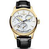 Carlien Unique Design Style Energy Display Automatic Watches Switzerland Brand Watch Luxury Men Watches (Gold&White)