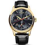 Carlien Unique Design Style Energy Display Automatic Watches Switzerland Brand Watch Luxury Men Watches (Gold&Black)