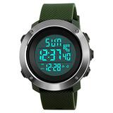 Mens Digital Watch, Sport Watches Electronic Military Outdoor Watch 50M Water Resistant Stopwatch Alarm (Green)