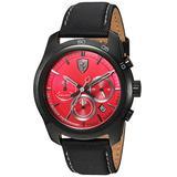 Ferrari Men's PRIMATO Stainless Steel Quartz Watch with Nylon Strap, Black, 22 (Model: 830447)