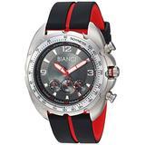 ROBERTO BIANCI WATCHES Men's Aberto Stainless Steel Quartz Watch with Silicone Strap, Black, 20 (Model: RB55060)