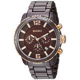 ROBERTO BIANCI WATCHES Men's Amadeo Swiss-Quartz Watch with Ceramic Strap, Brown, 22 (Model: RB58753)