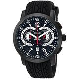 ROBERTO BIANCI WATCHES Men's Lombardo Stainless Steel Quartz Watch with Rubber Strap, Black, 24.2 (Model: RB70965)