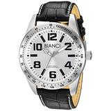 ROBERTO BIANCI WATCHES Men's Achille Stainless Steel Quartz Watch with Patent Leather Strap, Black, 20 (Model: RB55092)