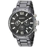 ROBERTO BIANCI WATCHES Men's Amadeo Swiss-Quartz Watch with Ceramic Strap, Black, 22 (Model: RB58750)