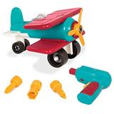 Battat – Take-Apart Airplane – Colorful Take-Apart Toy Airplane for Kids Aged 3 and Up (25pc) , Blue & Red