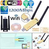 KuWFi USB Wireless Adapter AC 1200mbps USB WiFi Adapter Dual Band USB WiFi Adapter for Faster WiFi-Wireless Adapter for Desktop and Laptop-1200Mbps Dual Band-USB WiFi Antenna for Better