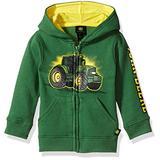 John Deere baby boys Fleece Zip Hoody Hooded Sweatshirt, Green, 18 Months US