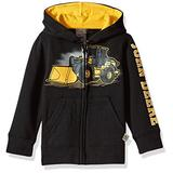 John Deere baby boys Fleece Zip Hoody Hooded Sweatshirt, Black, 3T US