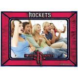"""Houston Rockets Horizontal Art Glass Frame"""