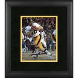 """Terry Bradshaw Pittsburgh Steelers Framed Autographed 8"""" x 10"""" White Jersey Photograph"""