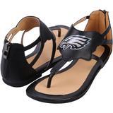 Women's Cuce Black Philadelphia Eagles Gladiator Sandals