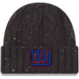Women's New Era Graphite York Giants Cable Frosted Cuffed Knit Hat