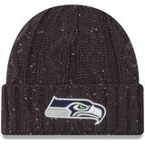Women's New Era Graphite Seattle Seahawks Cable Frosted Cuffed Knit Hat