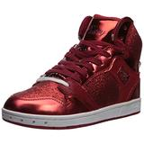 Pastry Glam Pie Glitter Dance Sneakers, Red, Youth/Size 12