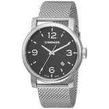 Wenger Men's Analogue Quartz Watch with Stainless Steel Strap 01.1041.124