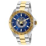Invicta 25338 Men's Speedway Blue Dial Two Tone Yellow Gold Steel Bracelet Quartz Watch