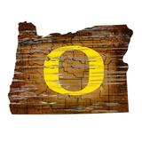 """""""Oregon Ducks 23.5"""""""" x Distressed State with Logo Sign"""""""