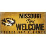 """""""Missouri Tigers 6"""""""" x 12"""""""" Fans Welcome Sign"""""""