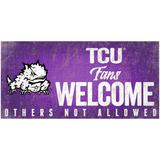 """""""TCU Horned Frogs 6"""""""" x 12"""""""" Fans Welcome Sign"""""""