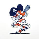 """Detroit Tigers Vintage Kitty 12"""" Steel Sign"""