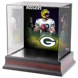 Aaron Rodgers Green Bay Packers Fanatics Authentic Deluxe Mini Helmet Case Commemorating 300 Career Touchdown Passes