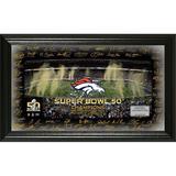Highland Mint Denver Broncos Super Bowl 50 Champions Signature Gridiron Photo
