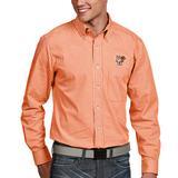 Men's Antigua Orange Bowling Green St. Falcons Associate Woven Long Sleeve Button-Down Shirt