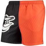 Men's Black/Orange Baltimore Orioles Color Block Swim Trunks
