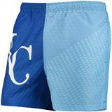 Men's Royal/Light Blue Kansas City Royals Color Block Swim Trunks