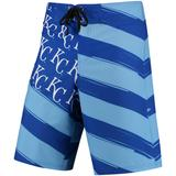 Men's Royal/Light Blue Kansas City Royals Diagonal Flag Boardshorts