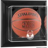 """Milwaukee Bucks Framed Black Wall-Mounted Team Logo Basketball Display Case"""