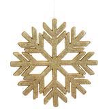 "Vickerman 510353 - 18.5"" Gold Glitter Snowflake Indoor/Outdoor Christmas Tree Ornament (L171808)"