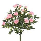 "Vickerman 461648 - 15"" Lt Pink Mini Diamond Rosa Bush x 5 (FL171104) Home Office Flower Bushes"