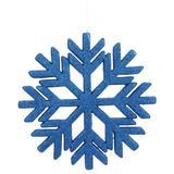 "Vickerman 510322 - 18.5"" Blue Glitter Snowflake Indoor/Outdoor Christmas Tree Ornament (L171802)"