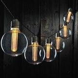 "Roman 56562 - 6 Light 4"" Clear Edison Globe Battery Operated Light String (160013)"
