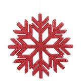 "Vickerman 510339 - 18.5"" Red Glitter Snowflake Indoor/Outdoor Christmas Tree Ornament (L171803)"