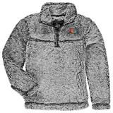 Miami Hurricanes Girls Youth Sherpa Super-Soft Quarter-Zip Pullover Jacket - Gray