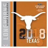 "Texas Longhorns 2018 12"" x Team Wall Calendar"