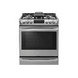 LG LSG4513 30 Inch Wide 6.3 Cu. Ft. Slide-In Gas Range with ProBake Convection and Self Clean