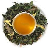 Nargis Ayurvedic Loose Leaf Stress Relief Tea/100% Natural Herbal AntiOxidant Refresh Tea w/ Peppermint, Cinnamon, Cardamom, Clove & Mulethi/Indian Organic Ginger Flavor Relax Tea, 3.52 oz