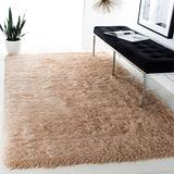 Safavieh Venice Shag Collection SG256C Handmade Glam 3-inch Extra Thick Area Rug, 5' x 8', Champagne
