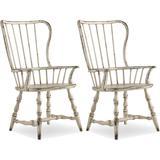 "Hooker Furniture 5403-75300-2PK Sanctuary Set of (2) 24"" Wide Farmhouse Cottage Spindle Back Dining"