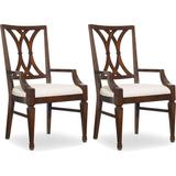"""Hooker Furniture 5183-75300-2PK Palisade 24"""" W Classic Splat Back Armed Dining Chairs - Set of (2)"""