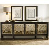 """Hooker Furniture 3005-85005 Sanctuary 105"""" Contemporary Ebony and Gold Four Door Mirrored Credenza"""