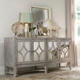 """Hooker Furniture 638-85102 Diamante 68"""" Wide Designer Vintage Living Room Console Cabinet Shimmer"""